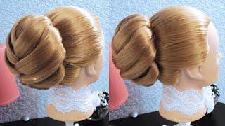 getlinkyoutube.com-Объёмный пучок - Hairstyles by REM