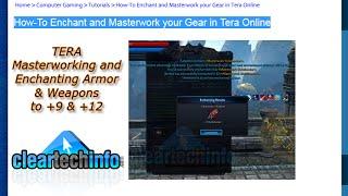getlinkyoutube.com-Tera - Masterworking & Enchanting Armor & Weapons to +12