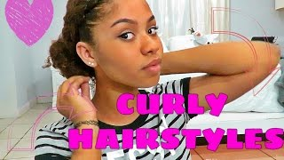 Cute Curly Hairstyles | On Old Wash and Go