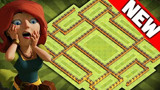 getlinkyoutube.com-Clash of Clans - NEW Update TH8 Farming BASE!! CoC Epic Town hall 8 Hybrid/Trophy Base!