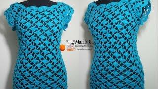 getlinkyoutube.com-how to crochet easy top for beginners blusa vestido paso a paso