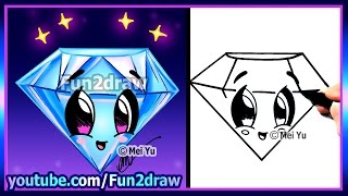 getlinkyoutube.com-How to Draw Step by Step - Easy Cute Diamond for Love Valentines Mothers Day - Fun2draw