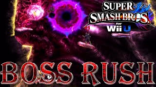 Super Smash Bros. for Wii U - Boss Rush (All Boss Fights)