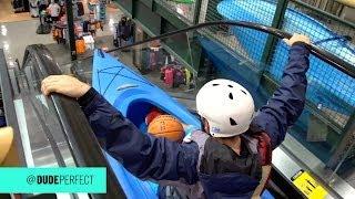 flushyoutube.com-Kayaking Down an Escalator