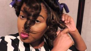 getlinkyoutube.com-How To Curl Synthetic Wig