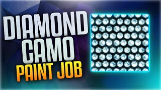 "HOW TO MAKE DIAMOND CAMO! - ""Diamond Camo"" PAINTJOB TUTORIAL! (BO3 Diamond Camo Paint Job)"
