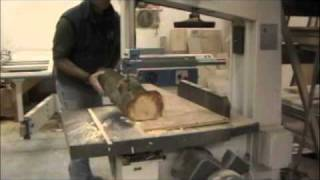 getlinkyoutube.com-How To Mill Smaller Logs Using Your Bandsaw