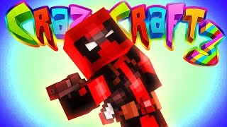 getlinkyoutube.com-Minecraft Crazy Craft 3: Deadpool Prank! #74