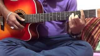 getlinkyoutube.com-Jodi Vule Jao na hoy amake - Guitar tutorial