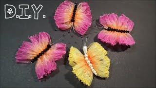 getlinkyoutube.com-♡ ❀ ♡ D.I.Y. Dual Tone Organza  Butterfly | MyInDulzens ♡ ❀ ♡