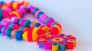 getlinkyoutube.com-How to Make Quilling Beads Necklace