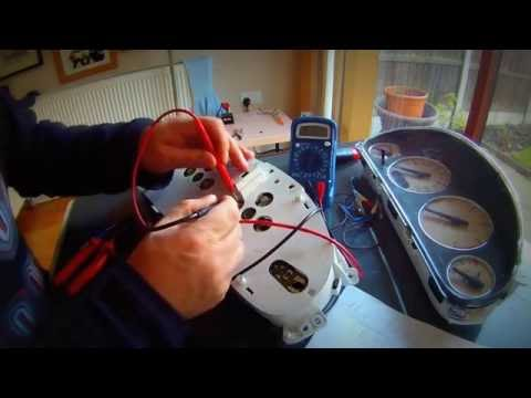 Replacing the bulb in the instrument panel Chrysler Dodge лампочки в панеле приборов Chrysler