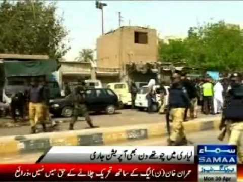 Lyari operation continues for 4th day, gangsters attacking Police and Lyari resident