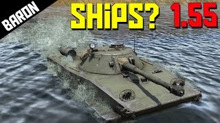 getlinkyoutube.com-AMPHIBIOUS TANKS!  PT-76, First Battleship in War Thunder 1.55!