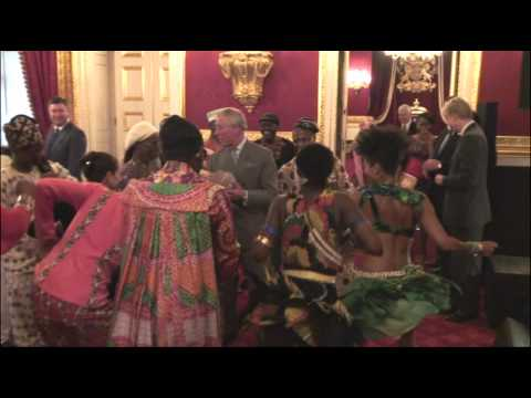 The Prince of Wales meets members of the British West-African origin community