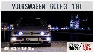 getlinkyoutube.com-Vw Golf 3 GTI 1.8 T 0-100 Sound Test Jubi