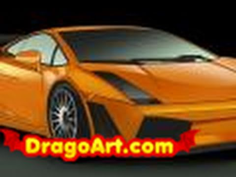 How to draw a Lamborghini Gallardo, step by step