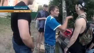 getlinkyoutube.com-Пьяная мать на глаза детей устроила драку с общественниками в Новосибирске
