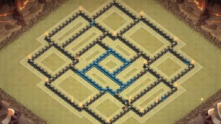 getlinkyoutube.com-Clash of Clans  - Best Town hall 10 TH10 War  Base *NEW* 2 Air Sweepers 2015 Very Strong