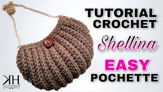 "getlinkyoutube.com-Tutorial uncinetto pochette ""Shellina"" | Maglia bassa in costa | Crochet bag || Katy Handmade"