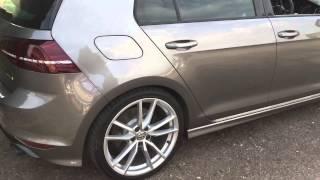 getlinkyoutube.com-VW Golf 7 R 2015 with Milltek cat back non res black Cerako