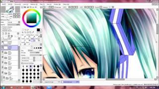 getlinkyoutube.com-Speed Paint Miku Hatsune