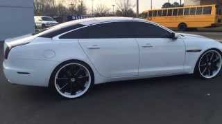getlinkyoutube.com-Jaguar XJL on 24 inch Forgiato 3pc Custom Painted Rims smoked out