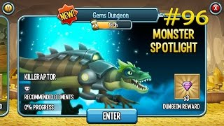 getlinkyoutube.com-Monster Legends - Episode #96 Gems Dungeon Killeraptor