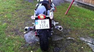 getlinkyoutube.com-Moto Guzzi V7 Racer with mistral exhaust