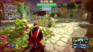 getlinkyoutube.com-Plants vs. Zombies: Garden Warfare: Garden Ops, Triple Chomper Gameplay