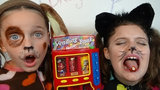 getlinkyoutube.com-Bad Baby Kitty Victoria Puppy Annabelle Candy Machine Bloody Tooth Toy Freaks Hidden Egg