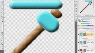 getlinkyoutube.com-MineCraft Diamond Pickaxe 128x128 Texture Time Lapse