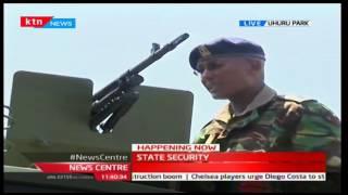 getlinkyoutube.com-President Uhuru Kenyatta inspects Kenya Army Tankers at Uhuru Park