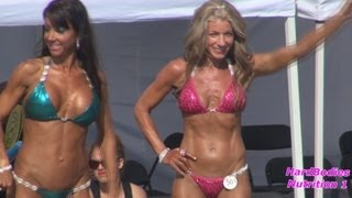 getlinkyoutube.com-Bikini Girls Over 35 Competition at Muscle Beach 7/4/13