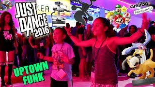 Lex & Mike play JUST DANCE 2016 + New Amiibo in NINTENDO Booth at E3 2015