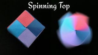"""getlinkyoutube.com-Action Fun Toy Origami -  Paper """"Modular Square Tiled Spinning Top"""" - Very Easy!!"""