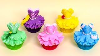 getlinkyoutube.com-DIY Disney Princess CUPCAKES - How to make by CakesStepbyStep