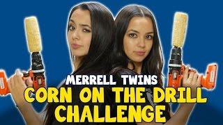 getlinkyoutube.com-CORN ON THE DRILL CHALLENGE - MERRELL TWINS