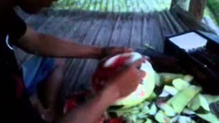 getlinkyoutube.com-Nyoman Putra (Watermelon Carving Funny Face)