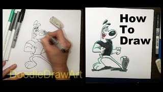 How to Draw Dudley Puppy from TUFF Puppy