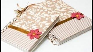 getlinkyoutube.com-Faça em casa um caderno personalizado e decorado