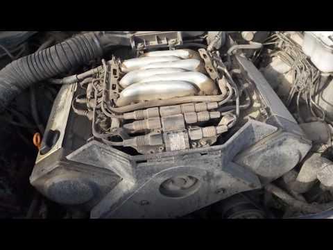 Стук в двигателе Audi A6 C4 2.6 ABC (На холодную)