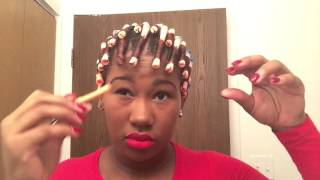 getlinkyoutube.com-Natural Hair Tutorial : How To Rod Set On A TWA