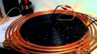 getlinkyoutube.com-Tesla pancake / Bedini self oscillator w/ high voltage output by TheDude