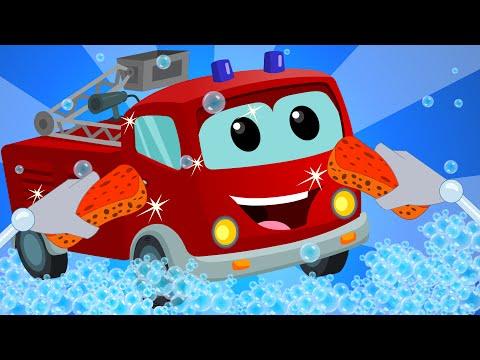 Fire Truck | Car Wash | Video for Children