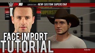 getlinkyoutube.com-WWE 2K16 - How to Import Your Face Photo