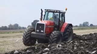 getlinkyoutube.com-Massey Ferguson 8160 ploughing 2015