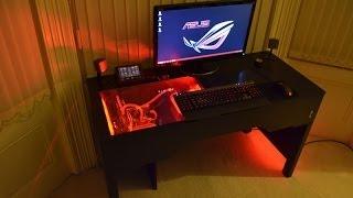 getlinkyoutube.com-Custom Watercooled PC within a Desk Design & Build (Unity-Desk)