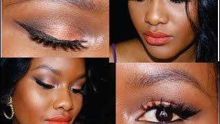 getlinkyoutube.com-GRWM: Maquillaje Naranja Satinado + Labios Naranja Matte / Maquillaje para piel negra