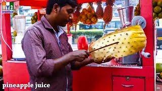 getlinkyoutube.com-PINEAPPLE CUTTINE  | KALVA STATION | MUMBAI STREET FOODS | STREET FOODS IN INDIA
